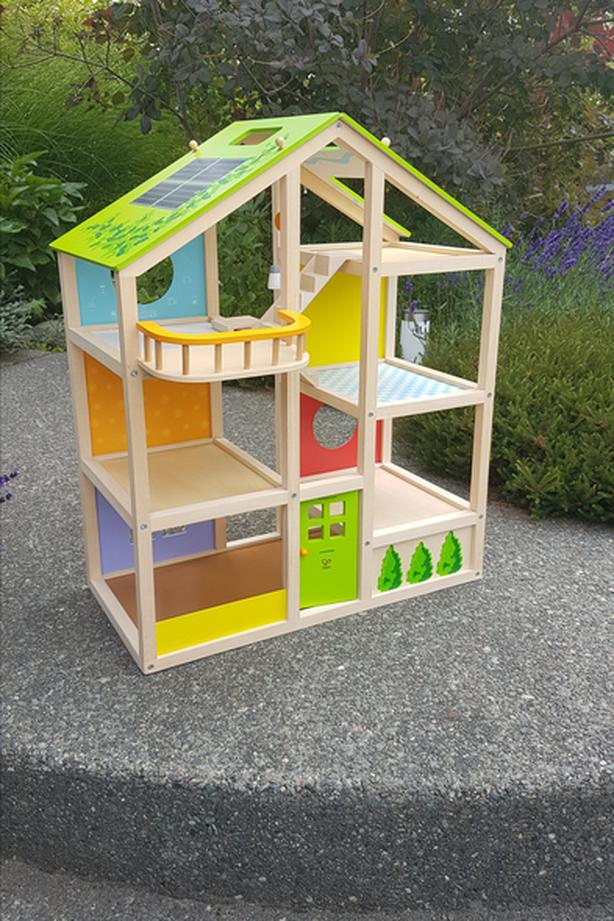 Log In Needed 80 Hape All Seasons Kids Wooden Dollhouse Unfurnished