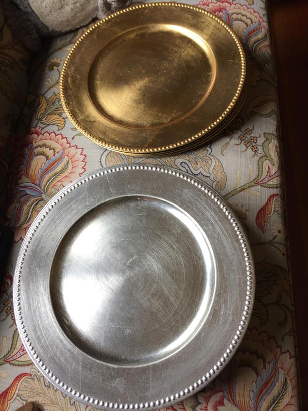 Gold And Silver Charger Plates Saanich Victoria