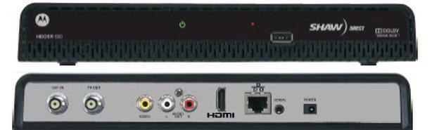 shaw direct dsr 600 satellite receiver