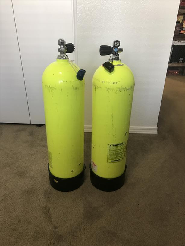  Log In needed $180 · 2 Scuba Tanks (aluminum 80s)