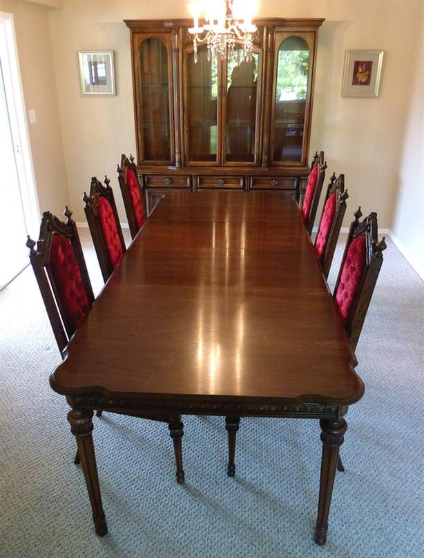 Solid Wood Dining Suite With Buffet Hutch