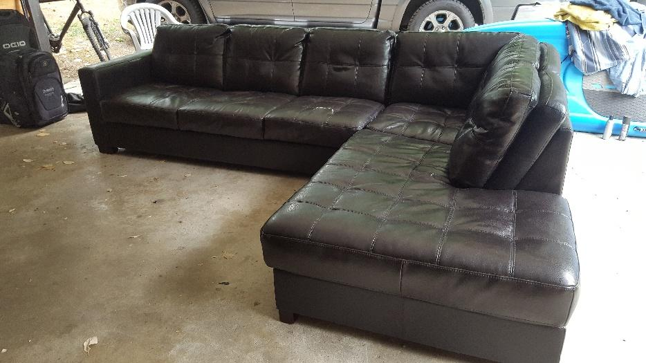 Large Sectional Couch For Sale Dark Brown Victoria City