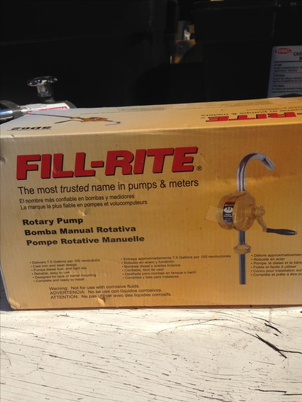 Fillrite Rotary Manual Fuel Pump