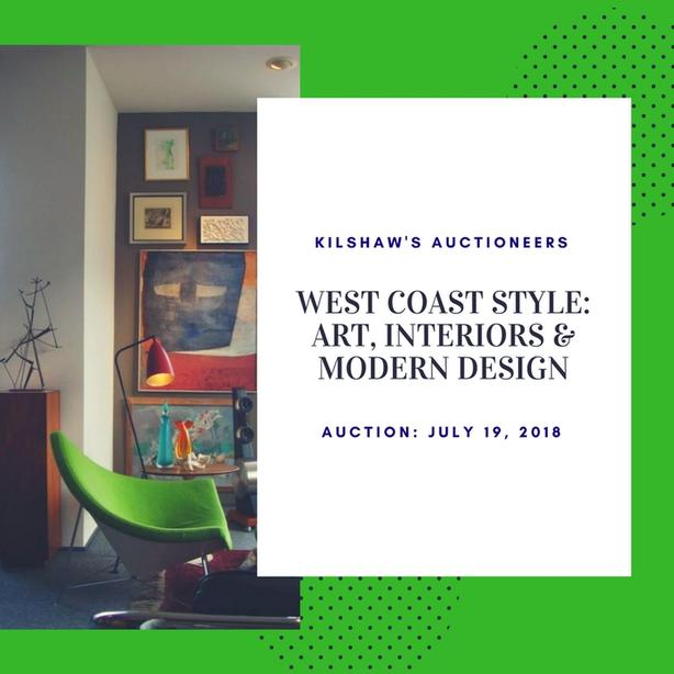 Live Auction: West Coast Style:  Art, Interiors and Modern Design