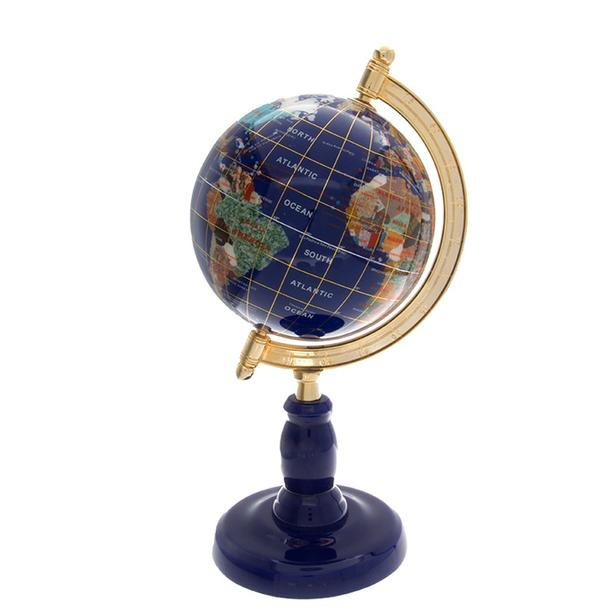 "Gorgeous 12"" Multi Gemstone Table Top Globe (23297-18)"