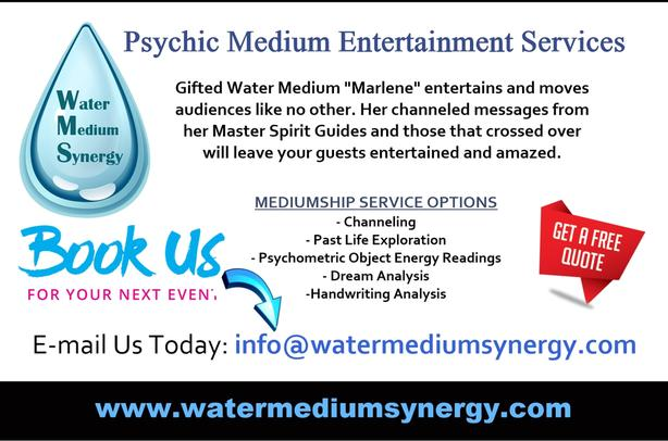Psychic Medium Available Group Events/Corporate Functions/Fundraisers