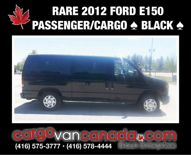 2012 FORD E-150  * BLACK * PASSENGER / CARGO VAN only 81K