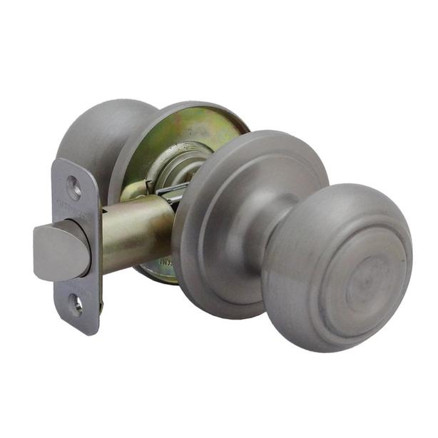 GATEHOUSE Passage Door Knob Handle - Satin Nickel