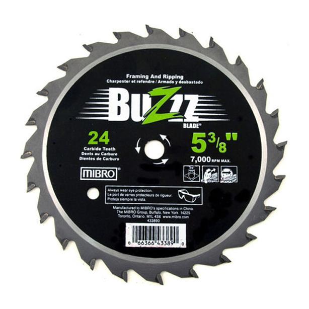 """MIBRO BUZZZ 24T Carbide Circular Saw Blade - 5-3/8"""""""