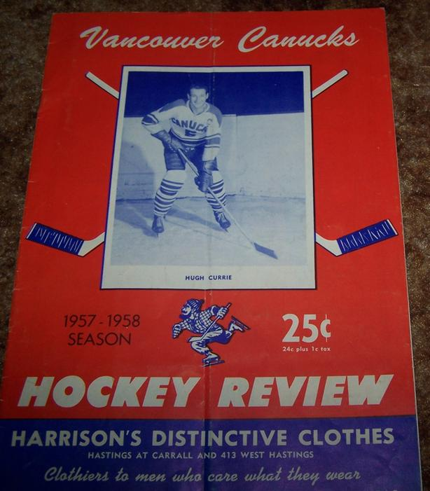 best loved 4756e 223d4 $30 · RARE 1957 VANCOUVER CANUCKS HOCKEY REVIEW PROGRAM vs. VICTORIA COUGARS
