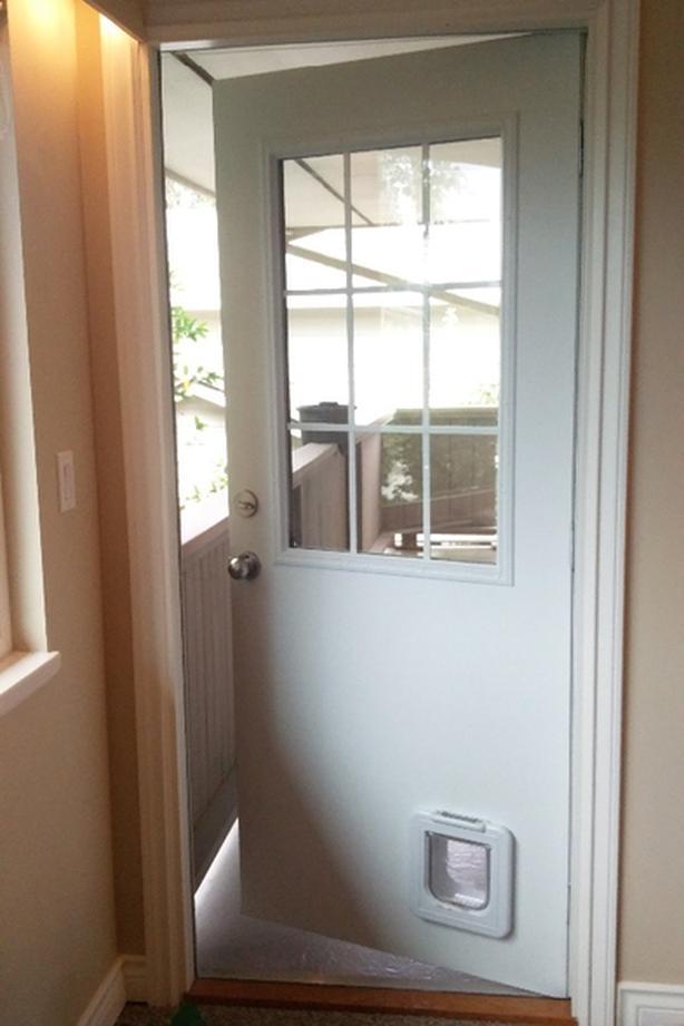 """'Masonite' style, exterior steel door, 34x80"""""""