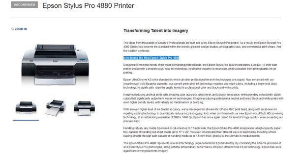 FREE: Epson 4880 Large Format Printer