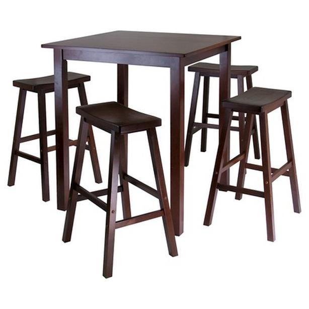 High Top Table and 4 Saddle Stools
