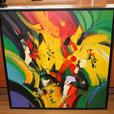 Multicoloured Large Original Oil painting