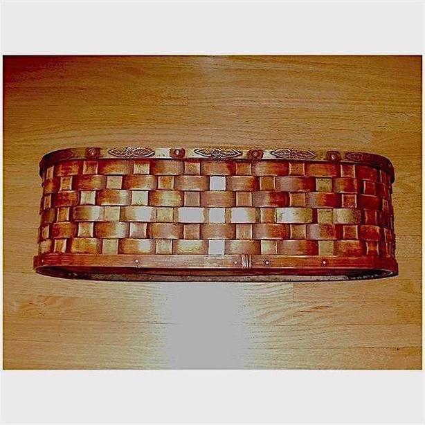 """Woven Rattan & Metal Planter Box - 20"""" long"""