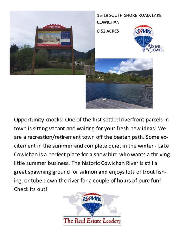 15-19 South Shore Road, Lake Cowichan