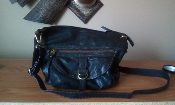 Leather Cross-Body Bag by Fossil