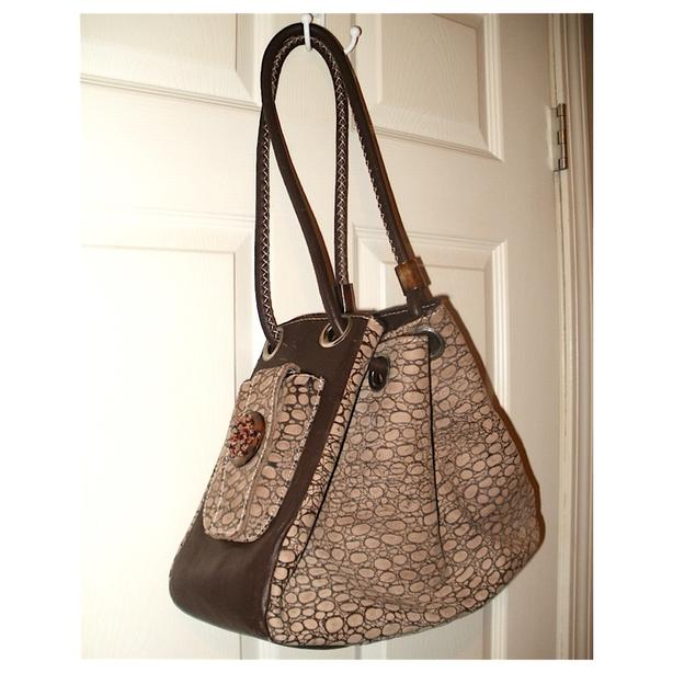 Genuine Leather 'African Lily' Hobo Tote Purse - made in Kenya