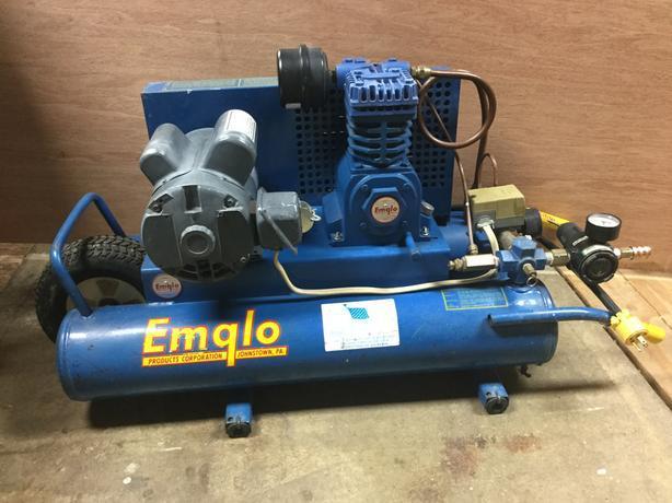 Emglo Wheelbarrow style compressor