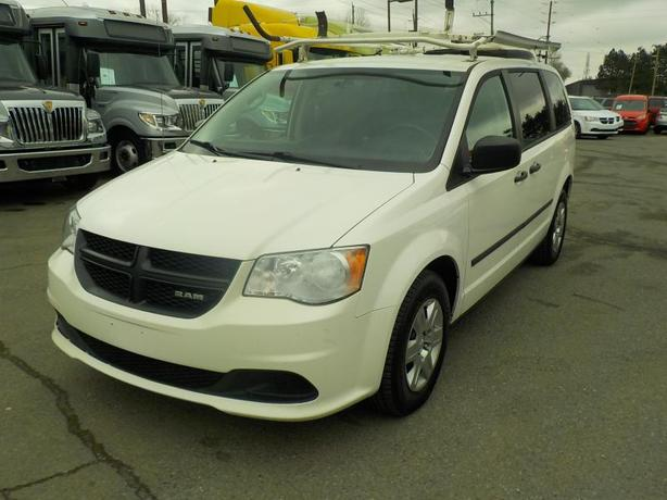 2013 Dodge RAM Caravan Cargo Van with Shelving & Ladder Rack