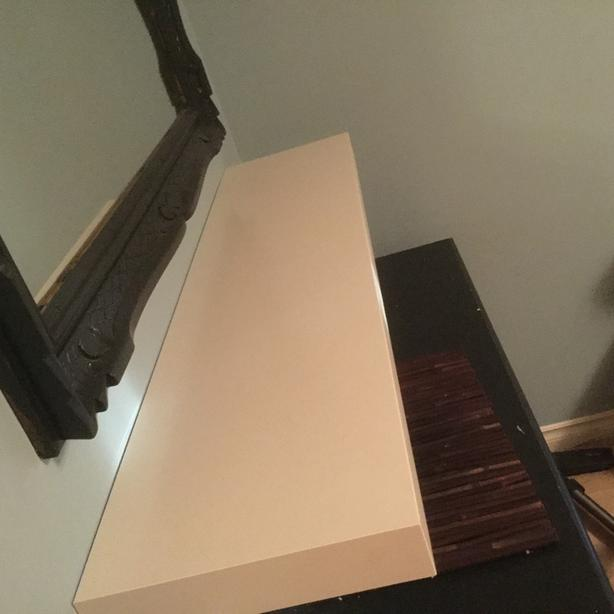 IKEA white floating shelve