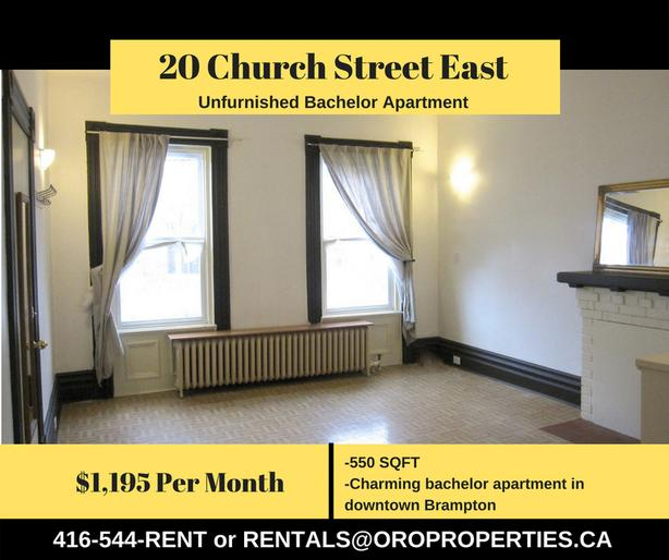 Charming Bachelor Apartment in Downtown Brampton