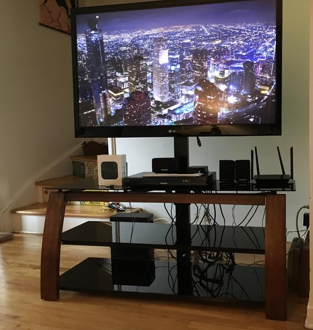 "LG 50"" TV and stand"