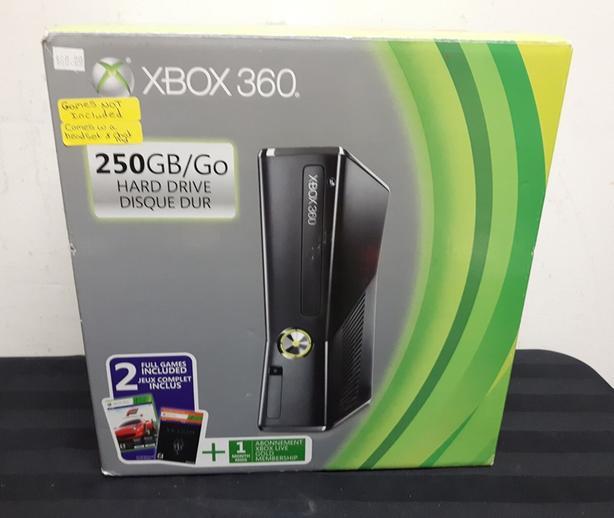  Log In needed $80 · Xbox 360 Slim 250GB Console in Box