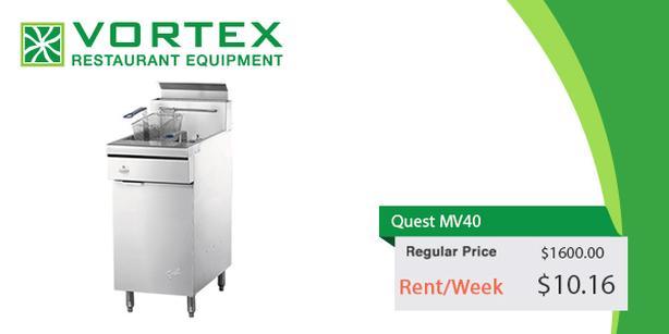 "Quest MV40 40 Lb Floor Gas Fryer ""Used"""