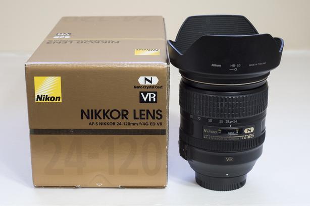 Nikon AF-S FX Nikkor 24mm-120mm 24-120 f/4G ED VR Lens