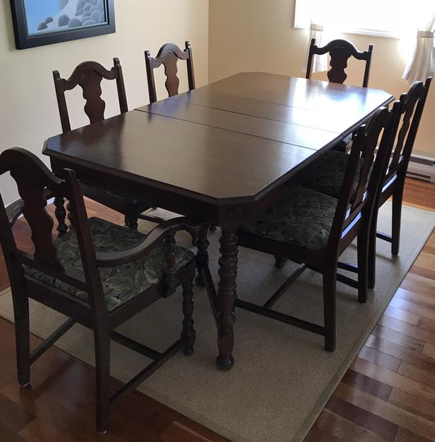 Antique Dining Room Table Chairs And Sideboard 8 Piece Set Victoria City Victoria Mobile