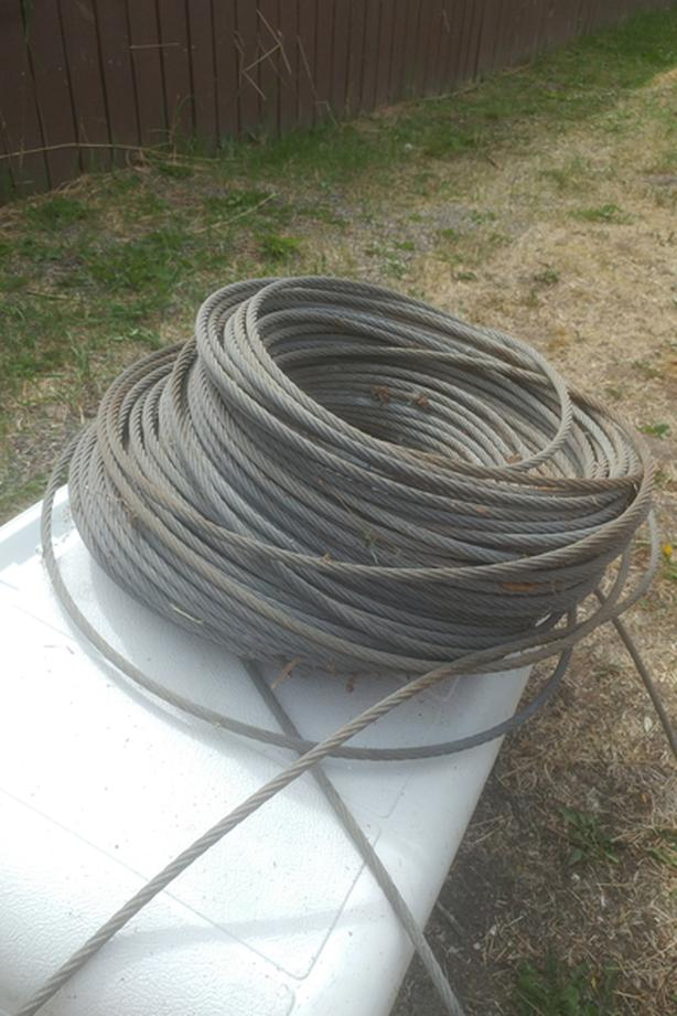 GALVANIZED WIRE ROPE/CABLE (NEVER USED)