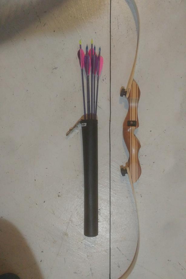 Recurve bow & arrows