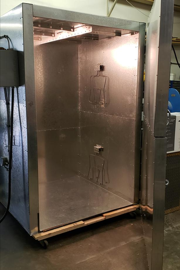 Canadian Made 4'x4''6.5' Tall Powder Coat Oven - BRAND NEW