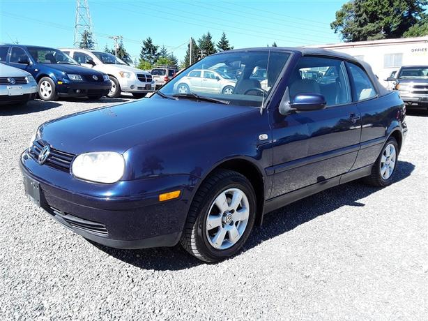 2002 VW Cabrio GLX, 4 cyl FWD with only 287k km, clean interior!