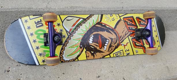 Skateboard, good shape, independent Koston trucks, Santa Cruz deck etc
