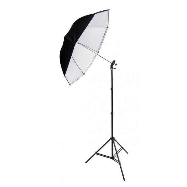 "Opus light stand with swivel & 35"" umbrella kit"