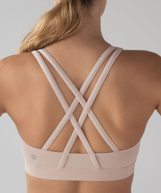 NEW LULULEMON Energy Sports Bra - Nude / Tan - Size 10