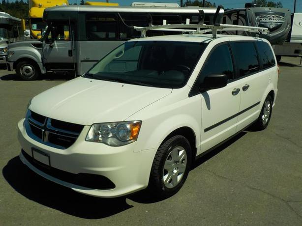 2011 Dodge Grand Caravan Cargo Van with Shelving and Ladder Rack