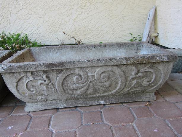 Decorative Cast Stone Planters - 2 available