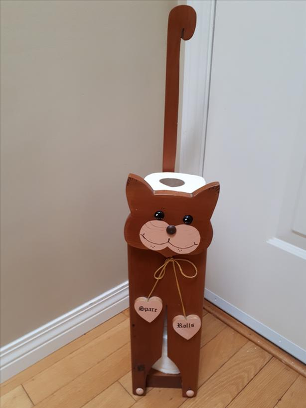 Nice Hand Crafted Solid Wood Spare Toilet Paper Rolls Holder InCuteKittyDesign