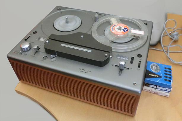  Log In needed $200 · 50 Watt Tube Tandberg Model 843 1/4 inch tape deck,  with case and mic
