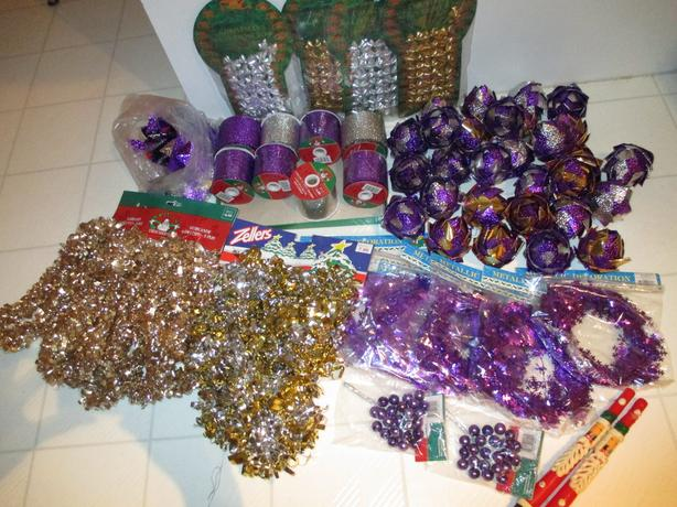 purple silver gold brand new christmas decorations project