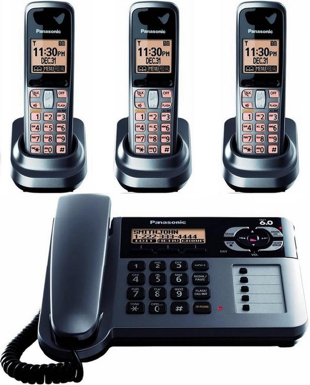 Panasonic KX-TG1061c corded phone with answering System and 3 HS
