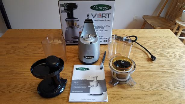 Professional juicer, Omega Vert, barely used