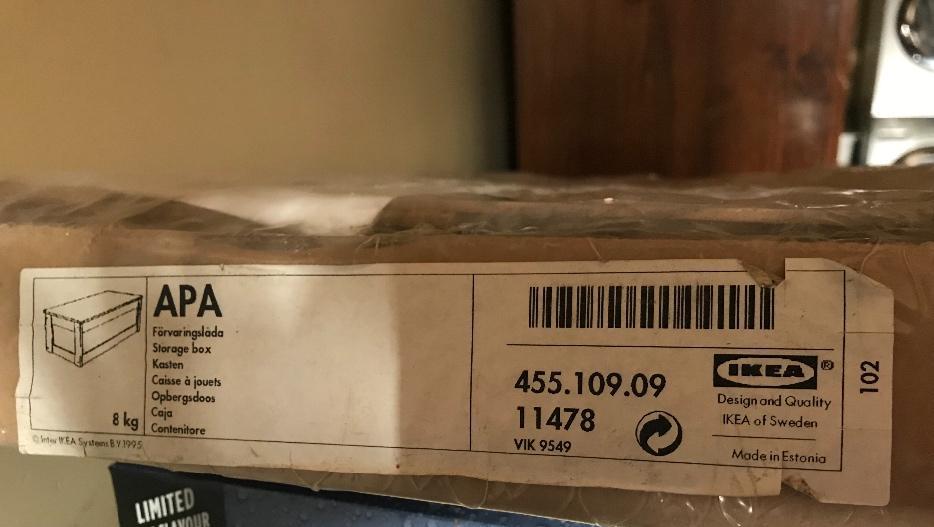 NIP Ikea APA Toy Storage Box West Shore LangfordColwoodMetchosinHighlands Victoria