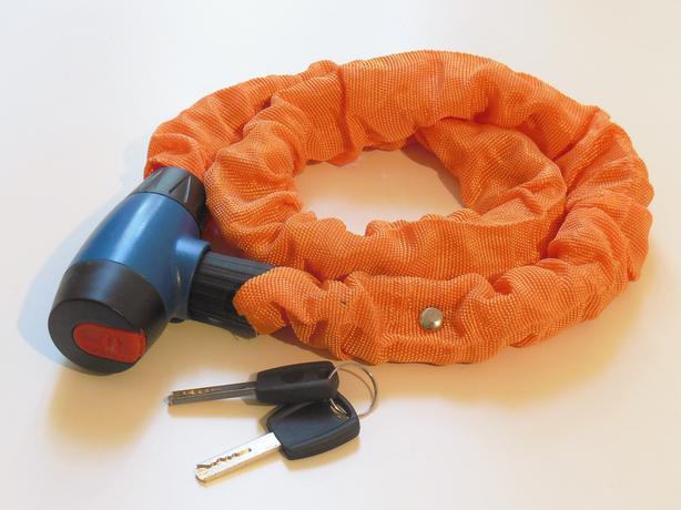 OBI Bicycle Bike Steel Chain Lock 90cm - Orange