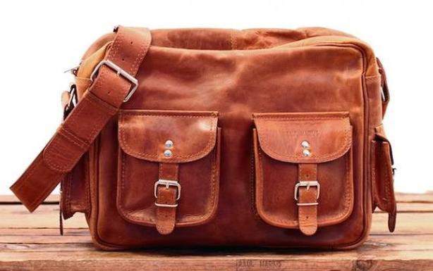 Paul Marius leather, multi-pocket, shoulder (messenger/computer) bag
