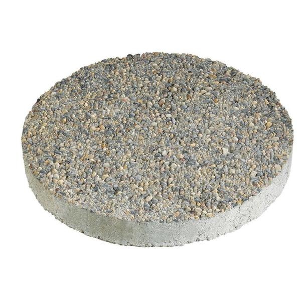 Wanted - Anchor 16 in. x 16 in. Round Exposed Aggregate Gray Concrete Step Stone