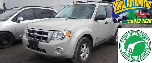 Certified 2008 Escape-4WD, 4cyl Fuel Efficient, Leather